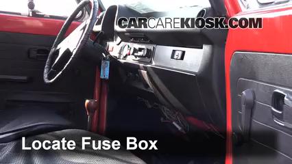 interior fuse box location 1967 1979 volkswagen beetle 1976 Pontiac Fuse Box