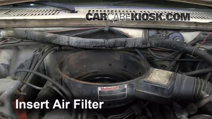 air filter how-to: 1983-1986 ford f-250 - 1984 ford f-250 6 9l v8 diesel  standard cab pickup