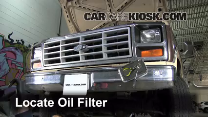 Oil Filter Change Ford F   Ford F L Vsel Standard Cab Pickup
