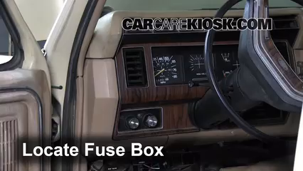 interior fuse box location 1983 1986 ford f 250 1984 ford f 250 1989 Ford F-150 Fuse Box Diagram locate interior fuse box and remove cover