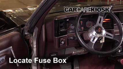 interior fuse box location: 1978-1987 chevrolet el camino - 1987 chevrolet el  camino 5.0l v8  carcarekiosk