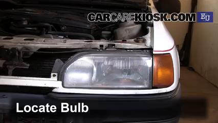 1989 Ford Sierra 2.3D GL 2.3L 4 Cyl. Diesel Luces Luz de marcha diurna (reemplazar foco)