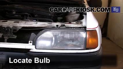 1989 Ford Sierra 2.3D GL 2.3L 4 Cyl. Diesel Luces Luz de carretera (reemplazar foco)