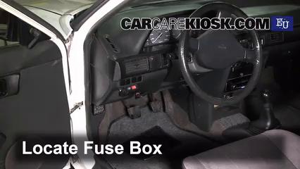 interior fuse box location 1985 1995 mazda 323 1991. Black Bedroom Furniture Sets. Home Design Ideas