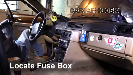 interior fuse box location 1990 1992 volvo 740 1992 volvo 740 2 3 94 mercury tracer fuse box locate interior fuse box and remove cover