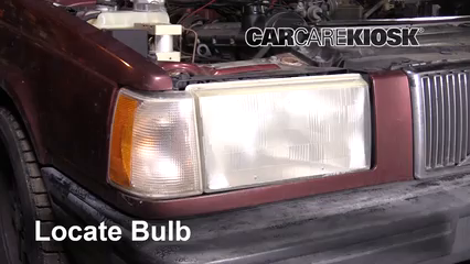 1992 Volvo 740 2.3L 4 Cyl. Wagon Lights Headlight (replace bulb)