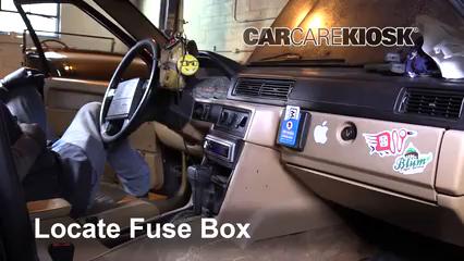 Interior Fuse Box Location: 1990-1992 Volvo 740 - 1992 Volvo 740 2.3L 4  Cyl. Wagon | Volvo 940 Turbo Fuse Box |  | CarCareKiosk