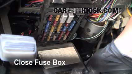Interior Fuse Box Location: 1991-1996 Oldsmobile 98 - 1993 Oldsmobile 98  Touring 3.8L V6CarCareKiosk