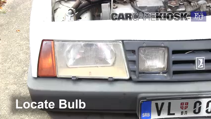 1993 Lada Samara 1300 S 1.3L 4 Cyl. Luces Luz de carretera (reemplazar foco)