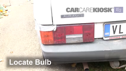 1993 Lada Samara 1300 S 1.3L 4 Cyl. Luces Luz de reversa (reemplazar foco)