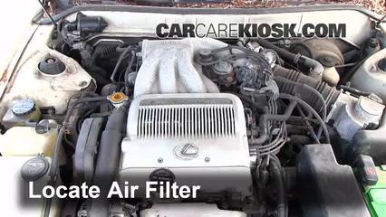 1993 Lexus ES300 3.0L V6 Filtro de aire (motor)