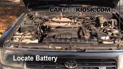Battery Replacement: 1990-1995 Toyota 4Runner - 1994 Toyota 4Runner ...