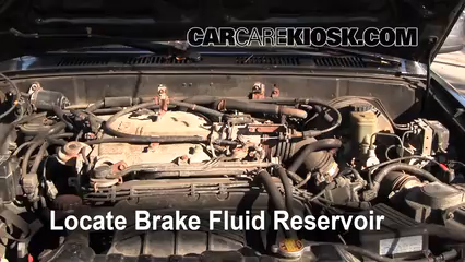 1994 Toyota 4Runner SR5 3.0L V6 Brake Fluid Add Fluid