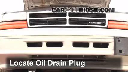 1994 Dodge Caravan 3.0L V6 Aceite Cambiar aceite y filtro de aceite