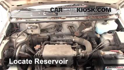 1994 Dodge Caravan 3.0L V6 Líquido limpiaparabrisas Agregar líquido
