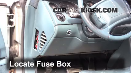 Interior Fuse Box Location: 1992-1998 Buick Skylark - 1995 Buick Skylark  Custom 2.3L 4 Cyl. Coupe (2 Door)CarCareKiosk