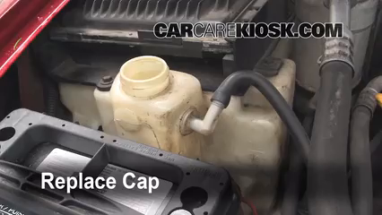 Fix Hose Leaks 19982005 Chevrolet Blazer 1999 Ls. Secure The Coolant Reservoir Cap. Chevrolet. 2001 4 3l Chevy Engine Cooling System Diagram At Scoala.co