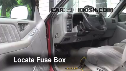 interior fuse box location 1995 1997 chevrolet blazer 1995