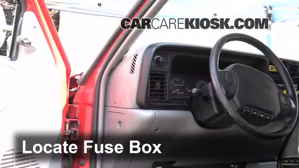 interior fuse box location 1994 2001 dodge ram 1500 1995 dodge rh carcarekiosk com