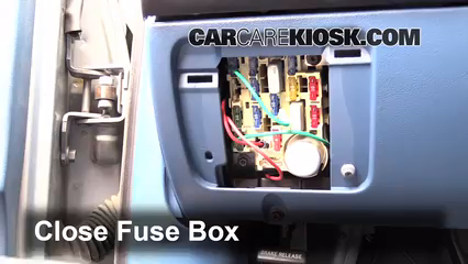 interior fuse box location: 1990-1997 ford f-250 - 1995 ford f-250 xl 7 5l  v8 standard cab pickup (2 door)