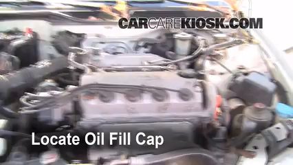 how to add oil honda civic (1992-1995)