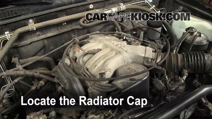 6  radiator cap remove the radiator cap before draining
