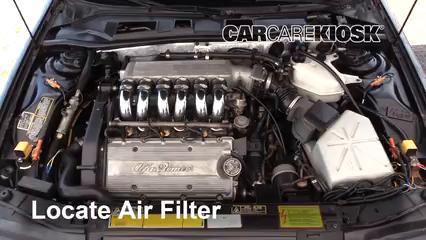 1995 Alfa Romeo 164 Quadrifoglio 3.0L V6 Filtre à air (moteur)