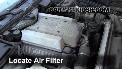1995 BMW 540i 4.0L V8 Filtre à air (moteur)