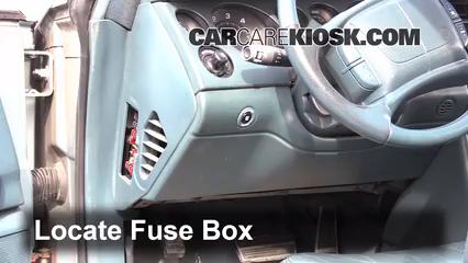 Interior Fuse Box Location 1995 1999 Buick Riviera 1995 Buick Riviera 3 8l V6