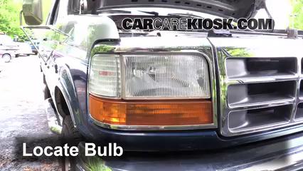 1995 Ford F-250 XL 7.5L V8 Standard Cab Pickup (2 Door) Luces Luz de estacionamiento (reemplazar foco)