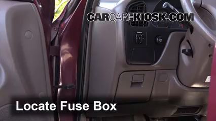 interior fuse box location: 1992-1996 toyota camry