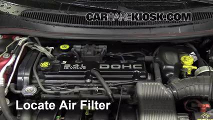 1996 Dodge Stratus ES 2.4L 4 Cyl. Filtro de aire (motor)