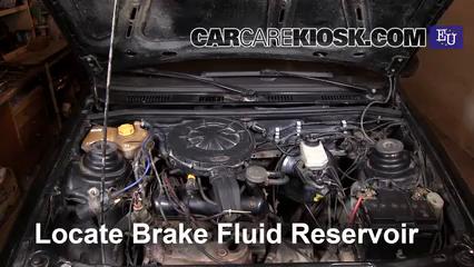 1996 Ford Fiesta Magic 1.3L 4 Cyl. Líquido de frenos Controlar nivel de líquido