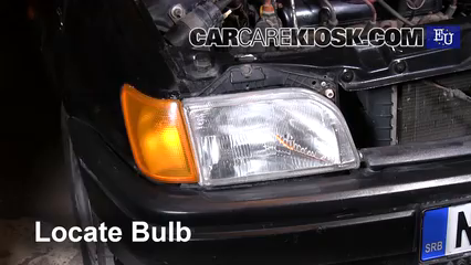 1996 Ford Fiesta Magic 1.3L 4 Cyl. Luces Luz de estacionamiento (reemplazar foco)