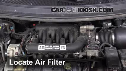 1996 Ford Windstar GL 3.8L V6 Filtro de aire (motor) Control