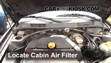1996 Saab 900 SE Turbo 2.0L 4 Cyl. Turbo Convertible (2 Door) Air Filter (Cabin)