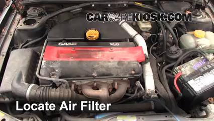1996 Saab 900 SE Turbo 2.0L 4 Cyl. Turbo Convertible (2 Door) Air Filter (Engine)