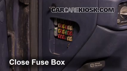 interior fuse box location: 1990-1999 chevrolet c1500 - 1997 chevrolet  c1500 4 3l v6 standard cab pickup (2 door)