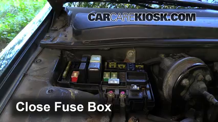 blown fuse check 1990 1993 honda accord 1991 honda accord lx 2 2l6 replace cover secure the cover and test component