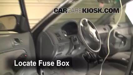 interior fuse box location: 1996-2000 honda civic - 1997 honda civic lx  1 6l 4 cyl