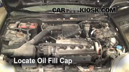1997 Honda Civic LX 1.6L 4 Cyl. Oil Add Oil