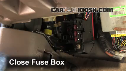 Interior Fuse Box Location 1997 2004 Mitsubishi Montero