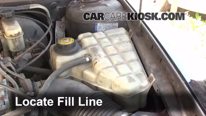 How to Add Coolant: Oldsmobile Aurora (1995-1999) - 1997 Oldsmobile Oldsmobile Engine Coolant on