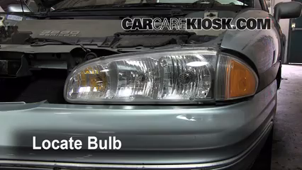1997 Pontiac Bonneville SE 3.8L V6 Lights Highbeam (replace bulb)