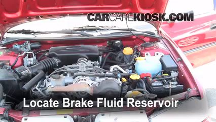 1997 Subaru Legacy L 2.2L 4 Cyl. Wagon Brake Fluid Check Fluid Level