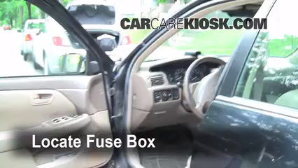 interior fuse box location 1997 2001 toyota camry 1997 toyota Cigarette Lighter Volt Gauge locate interior fuse box and remove cover