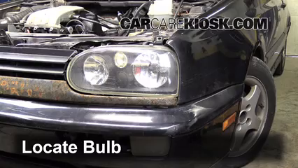 1997 Volkswagen Golf GTI 2.0L 4 Cyl. Lights Highbeam (replace bulb)