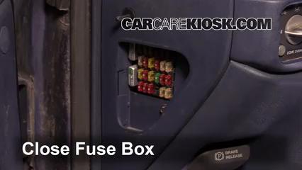interior fuse box location: 1990-1999 chevrolet c1500 - 1997 chevrolet  c1500 4.3l v6 standard cab pickup (2 door)  carcarekiosk