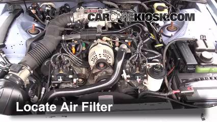 1997 Ford Thunderbird LX 4.6L V8 Filtre à air (moteur)