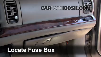 interior fuse box location: 1997-2005 buick park avenue